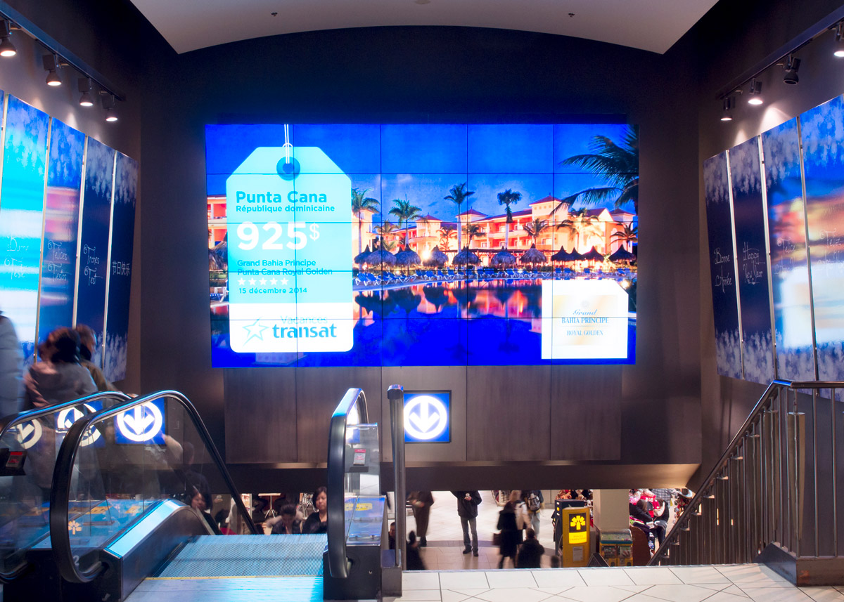 Place Montreal Trust Digital Signage